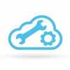 Cloud with tools graphic