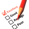 "Evaluation with ""Excellent"" checked"